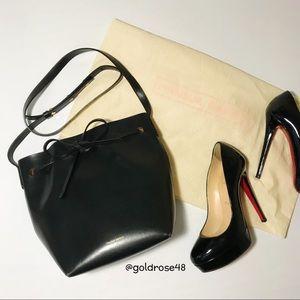 Mansur Gavriel black and gold bucket bag